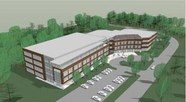 A conceptual design for the new Red Hat Westford facility.